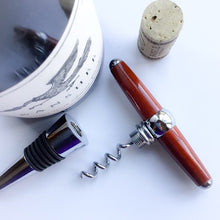 Load image into Gallery viewer, Bottle Stopper & Corkscrew - Padauk Wood