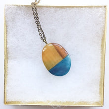Load image into Gallery viewer, Linden - Blue Oval Pendant