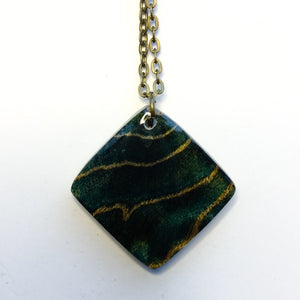 Waves - Diamond Shape Pendant [1]