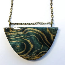 Load image into Gallery viewer, Waves - Half Moon Curved Pendant