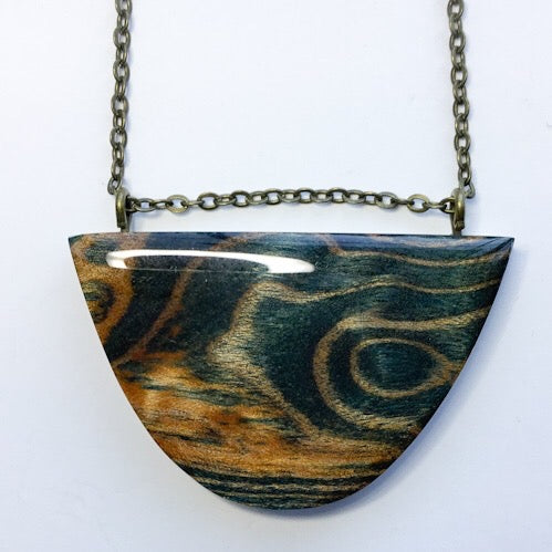 Waves - Half Moon Curved Pendant