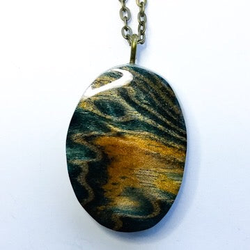 Waves - Oval Shape Pendant