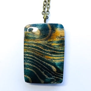 Waves - Rectangle Pendant [2]