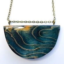 Load image into Gallery viewer, Waves - Half Moon Pendant