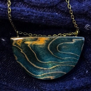 Waves - Half Moon Pendant