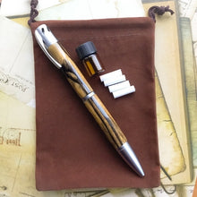 Load image into Gallery viewer, Pen - Aromatherapy - Satin Chrome and Ebony Wood