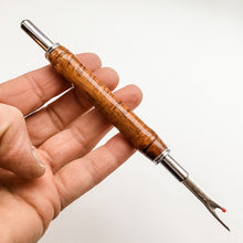 Load image into Gallery viewer, Seam Ripper - Double Blades - Curly Koa Wood