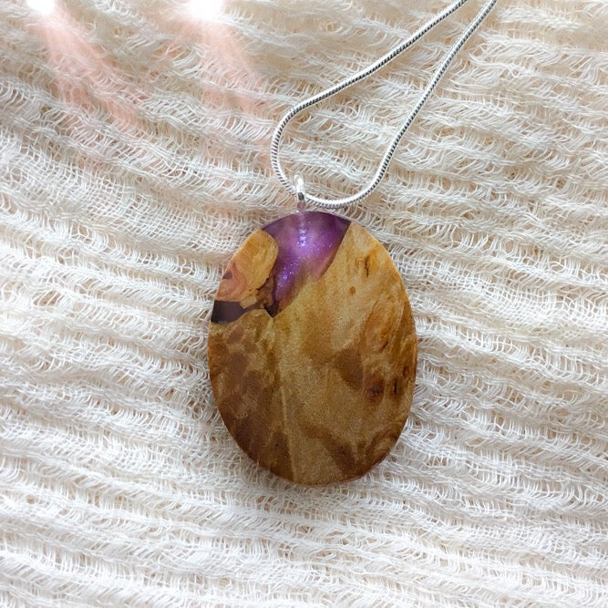 Purple Mountain - Oval 3 Pendant