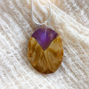 Purple Mountain - Oval 1 Pendant