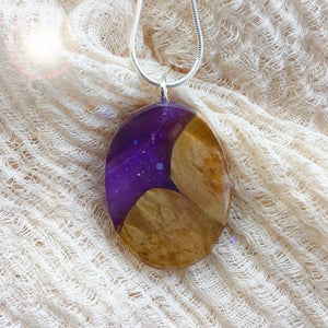 Purple Mountain - Oval 2 Pendant
