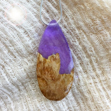 Load image into Gallery viewer, Purple Mountain - Teardrop 1 Pendant
