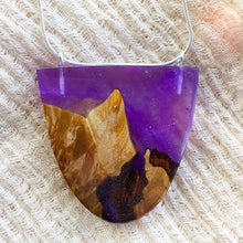 Load image into Gallery viewer, Purple Mountain - Rounded Shield Pendant