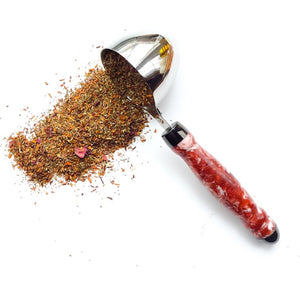 Coffee Scoop - 2 TBS Stainless Steel - Red and Pink Glitter