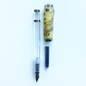 Pen - Clarion Fountain Pen - Buckeye Burl Wood