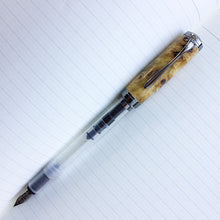 Load image into Gallery viewer, Pen - Clarion Fountain Pen - Buckeye Burl Wood