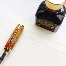 Load image into Gallery viewer, Pen - Clarion Fountain Pen - Australian Yellow Box Burl