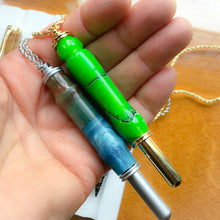 Load image into Gallery viewer, Sewing Tool Handle: Necklace 24K Gold with Magnetic Hook - Grasshopper Green