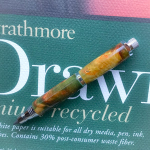 Pencil - Sketch Chrome - Box Elder Wood