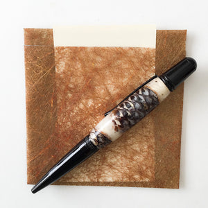 Pen - Wall Street II Ballpoint - Black Chrome with Pine Cones