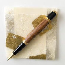 Load image into Gallery viewer, Pen - Wall Street II Gold/Black Twist Ballpoint with Zebra Wood