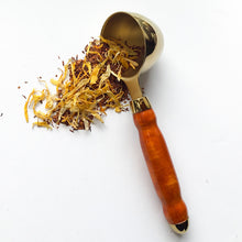 Load image into Gallery viewer, Coffee Scoop - 2 TBS Gold Titanium - Chakte Viga Wood