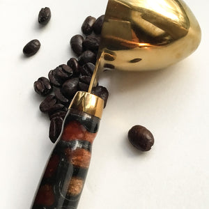 Coffee Scoop - 2 TBS Gold Titanium - Copper in Black Cells