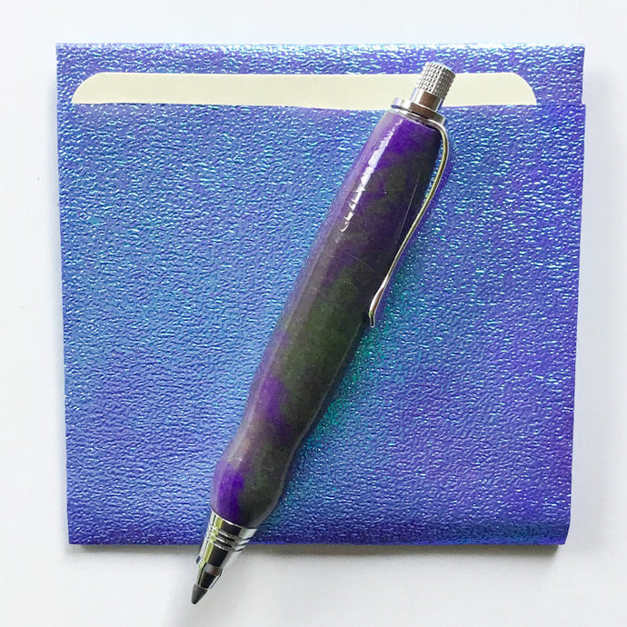 Pencil - Mini Sketch Chrome with Purple Green Glo-in-Dark