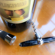 Load image into Gallery viewer, Bottle Stopper & Corkscrew - Black Pearl