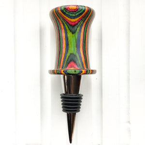 "Bottle Stopper - ""Top Hat Pride"" - stripes"