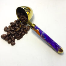 Load image into Gallery viewer, Coffee Scoop - 2 TBS Gold Titanium - Purple, Blue & Copper Metallics