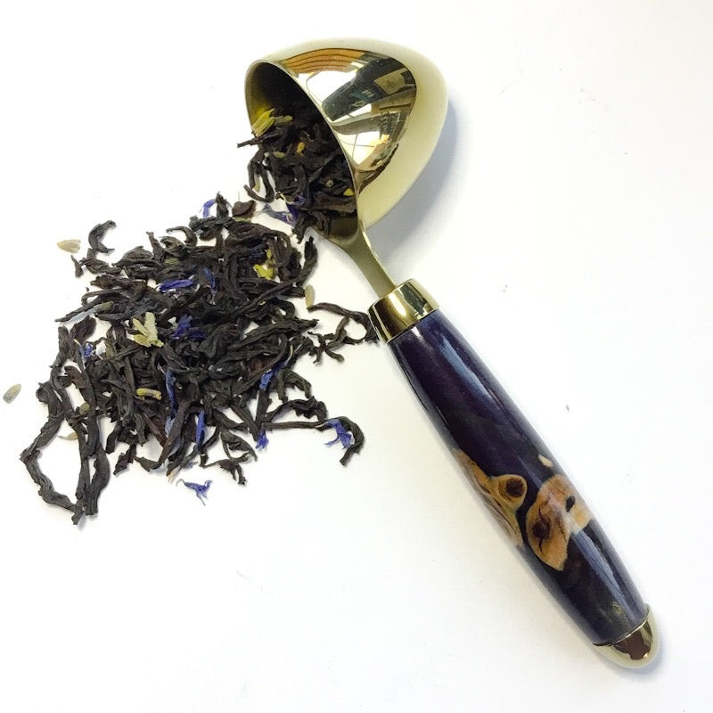 Coffee Scoop - 2 TBS Gold Titanium - Elm & Dark Purple