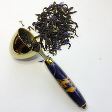 Load image into Gallery viewer, Coffee Scoop - 2 TBS Gold Titanium - Elm & Dark Purple