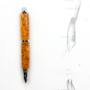 Pencil - Sketch Chrome - Amboyna Wood