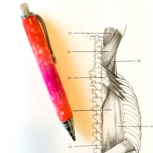 Pencil - Mini Sketch Chrome with Pink & Orange Metallics