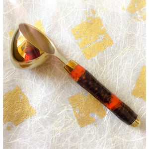 Coffee Scoop - 2 TBS Gold Titanium - Red Pine Cones