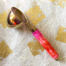 Load image into Gallery viewer, Coffee Scoop - 2 TBS Gold Titanium - Pink-Red-Orange Fiesta