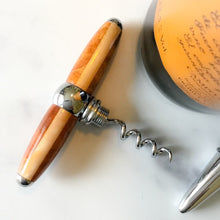 Load image into Gallery viewer, Bottle Stopper & Corkscrew - Amboyna & Blonde Maple