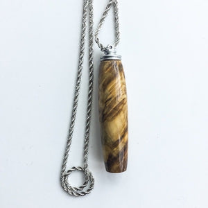 Handle: Necklace with Magnetic Hook - Buckeye Burl