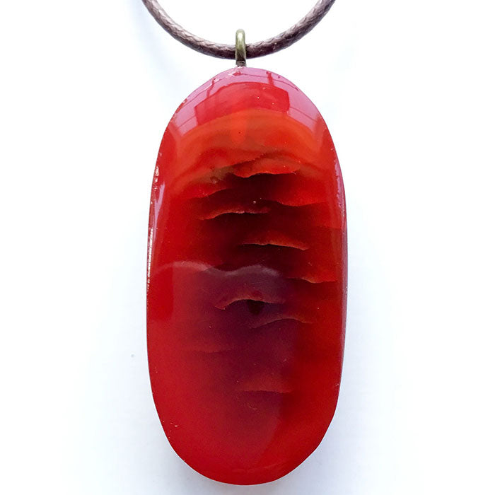 X-Section Pendant Red Oval