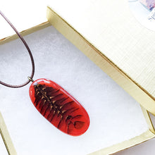 Load image into Gallery viewer, X-Section Pendant Red Oval