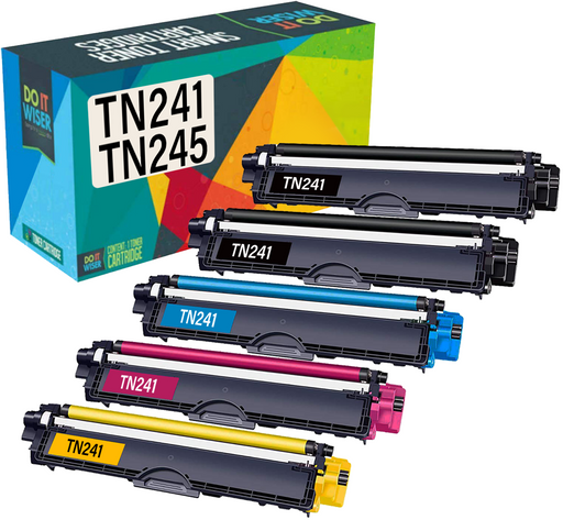 Compatibles Brother TN241 Cartuchos de Toner 5 Pack por Do it Wiser