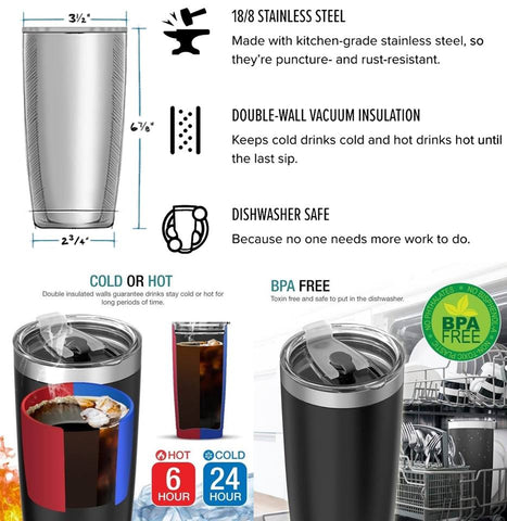 Black Dragon Stainless Steel Tumbler Cup 20oz