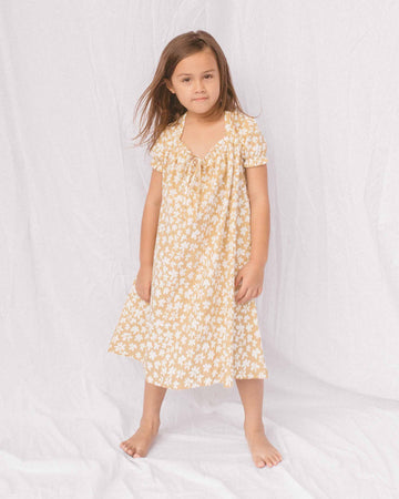 Mini Sawyer Dress // Caramel Daisies