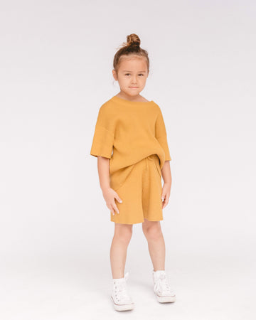 Summer Knit Set  // Mustard - The Lullaby Club