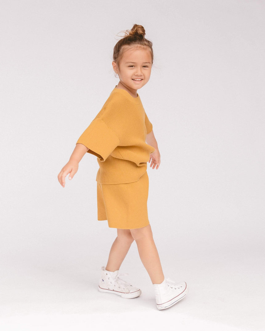 Summer Knit Set // Mustard kids The Lullaby Club