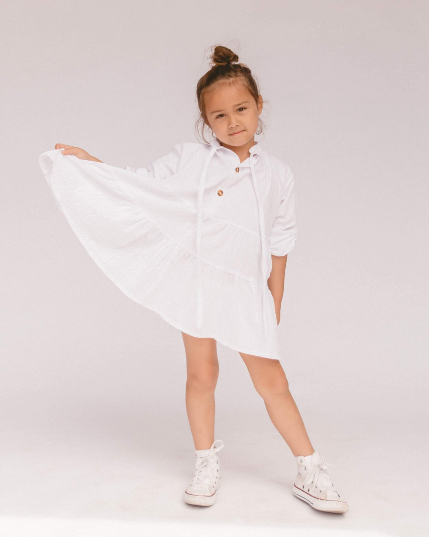 Mini Avalon Smock Dress // White - The Lullaby Club
