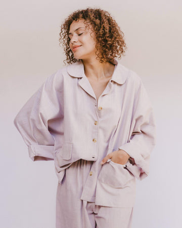 Women's Lounge Shirt // Lilac - The Lullaby Club