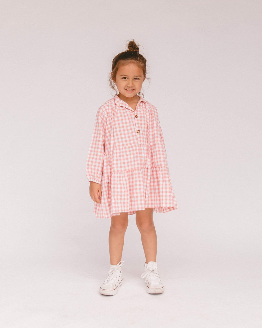 Mini Avalon Smock Dress // Candy Gingham - The Lullaby Club