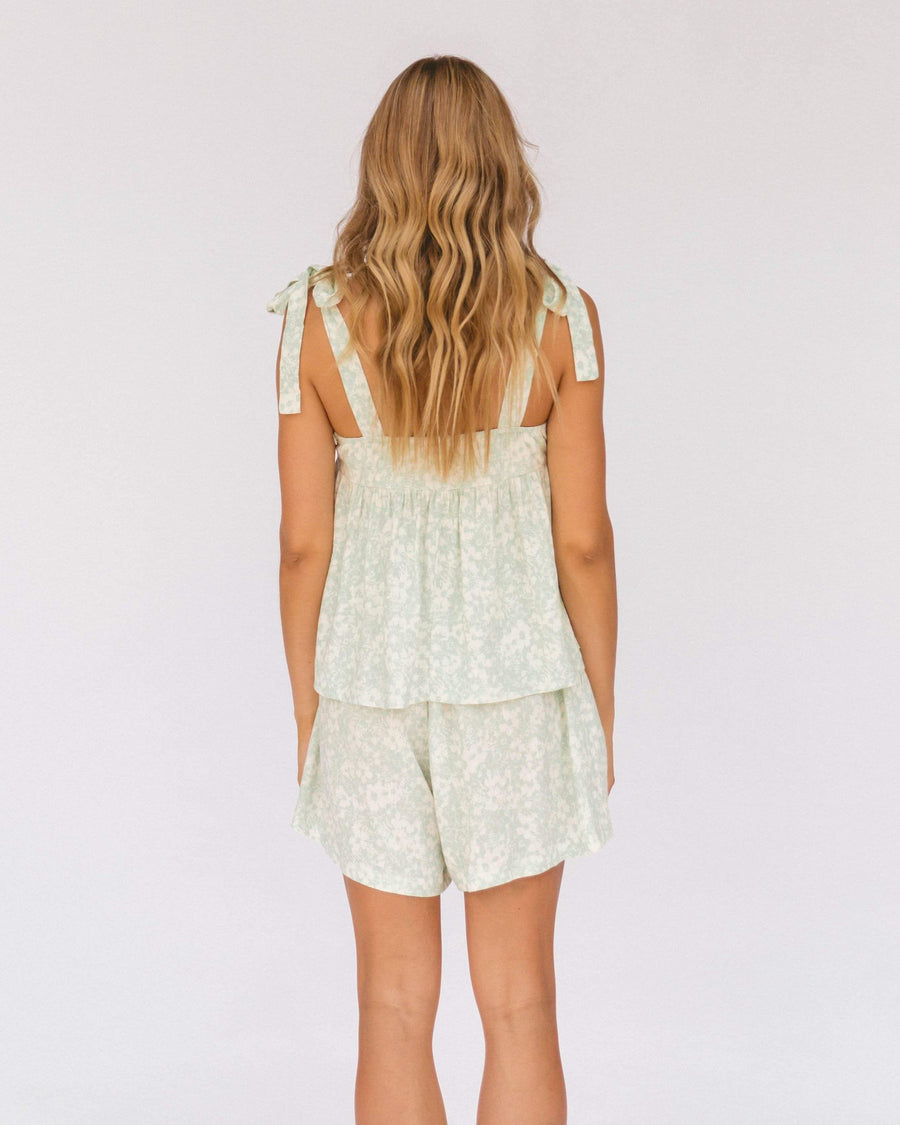 Teresa Shorts // Mint Daisies - The Lullaby Club