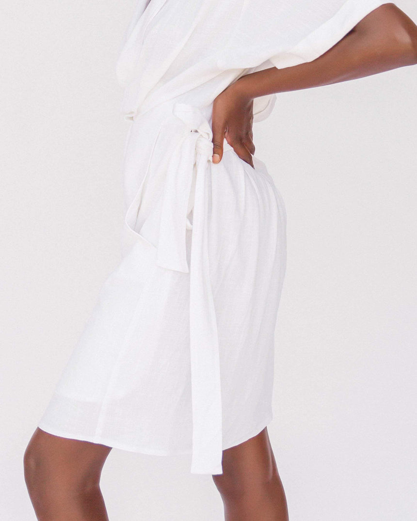 Natalie Wrap Dress // White - The Lullaby Club